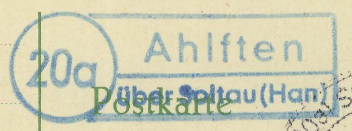 nach - Deutschland  -  Landpoststempel (Poststellenstempel) - Seite 2 Ahlfte11