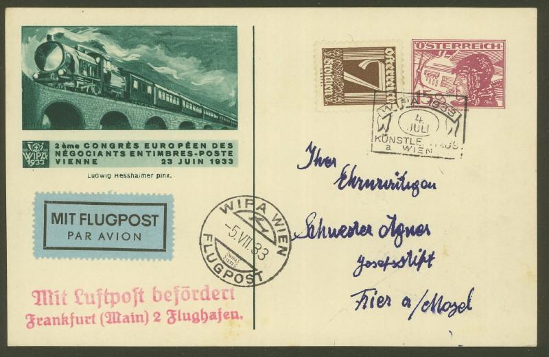 Privatganzsachen zur WIPA 1933 Fp_2_110