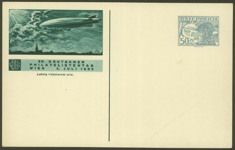 Privatganzsachen zur WIPA 1933 Fp_4_110
