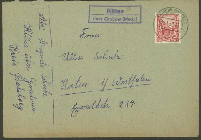 Mecklenburg - Ortsstempel aus Mecklenburg-Vorpommern - Seite 2 Klyss_10