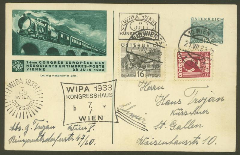 Privatganzsachen zur WIPA 1933 Pp_10910