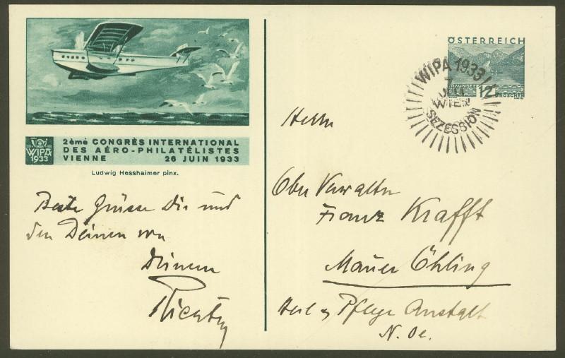 Privatganzsachen zur WIPA 1933 Pp_10911
