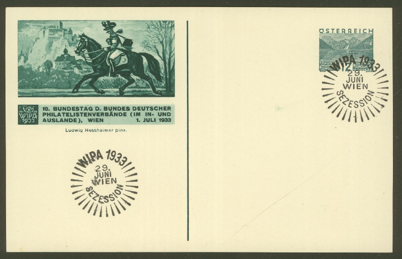 Privatganzsachen zur WIPA 1933 Pp_10913