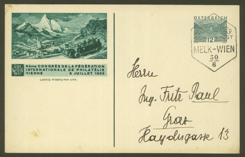 Privatganzsachen zur WIPA 1933 Pp_10915