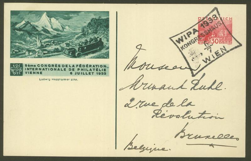 Privatganzsachen zur WIPA 1933 Pp_11310