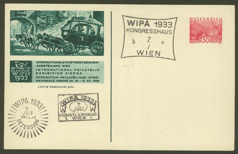 Privatganzsachen zur WIPA 1933 Pp_11312