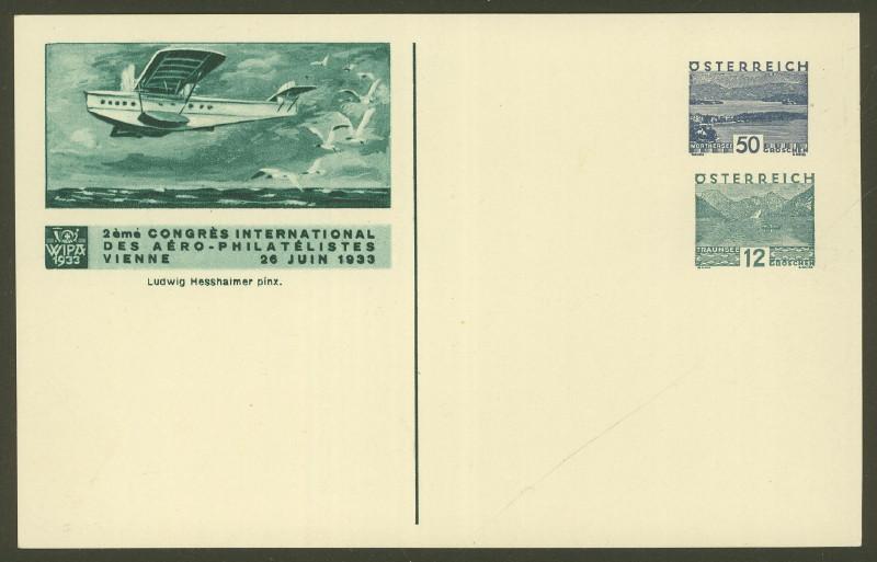 Privatganzsachen zur WIPA 1933 Pp_ohn12