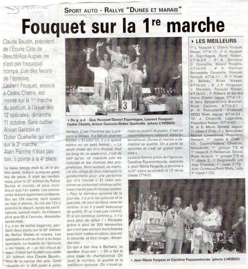 Article du journal L'HEBDO Rallye10