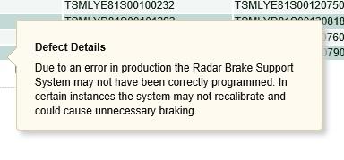 Recall Notice Recall11