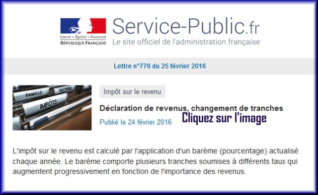 La lettre N° 776 de Service Public pour le 25 Février 2016 77610