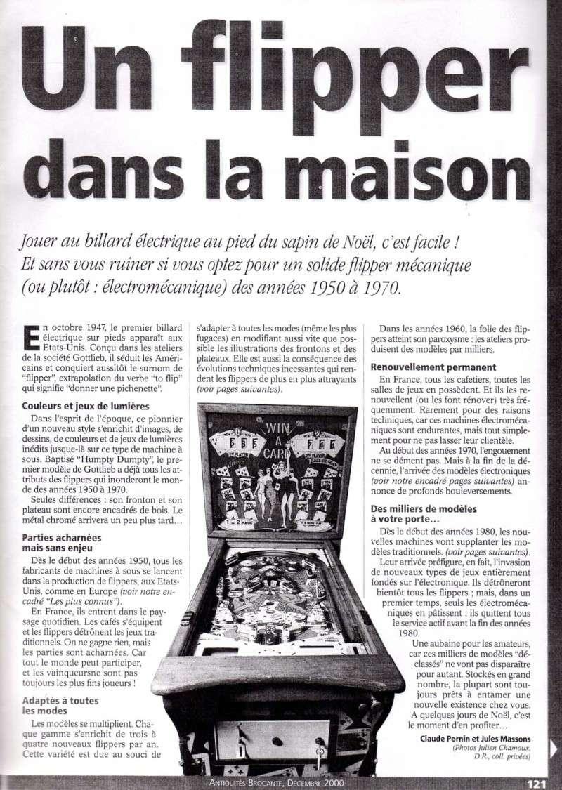 Reportage / Magazine sur 'Un flipper à la maison' Page210