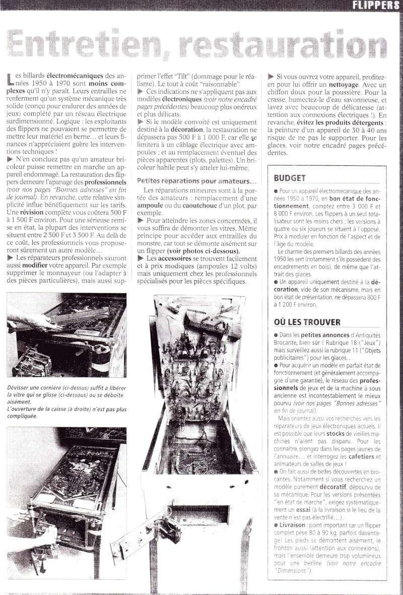 Reportage / Magazine sur 'Un flipper à la maison' Page810