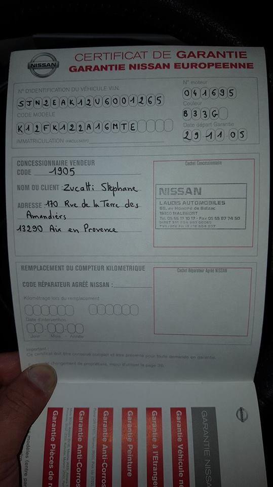 """NISSAN MICRA CC 1600 TEKNA 110CV """"l'exeption"""" 10581310"""