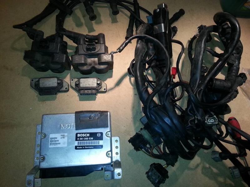 Faisceau moteur + boitier + bobine 155 2.0l TS 8s 15110910