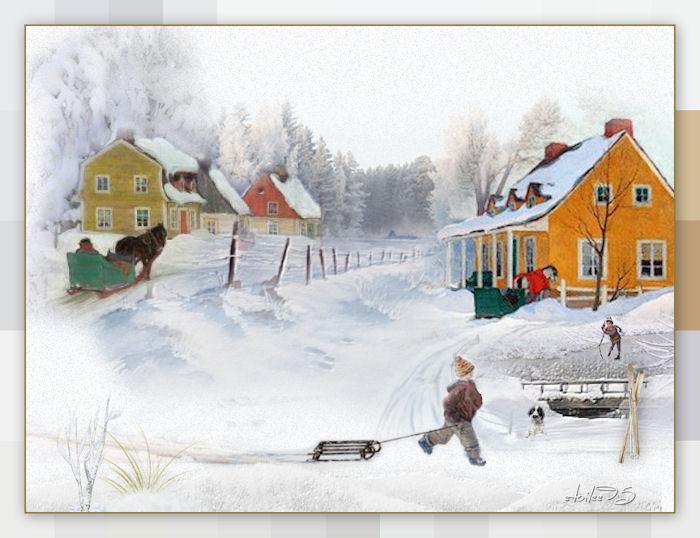 Scène d'hiver(Psp/Coups de pinceaux )  - Page 2 Image911