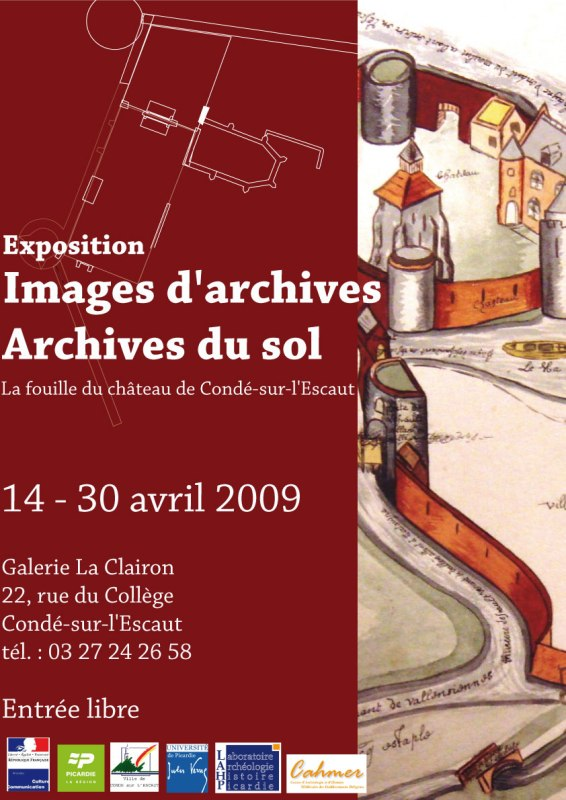 "Vernissage de l'exposition ""Images d'Archives-Archives du sol"" à Condé-sur-l'Escaut Affich10"