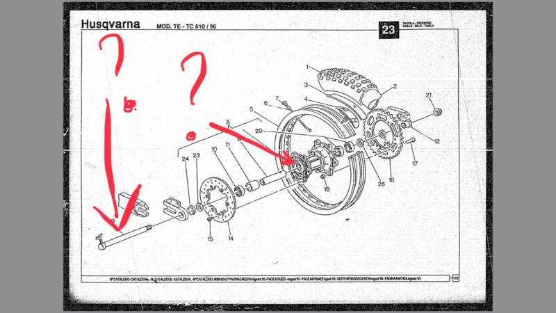 Diamètre axe roues 610 TE/TC 95/96 15586110