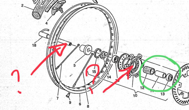 Diamètre axe roues 610 TE/TC 95/96 15586111