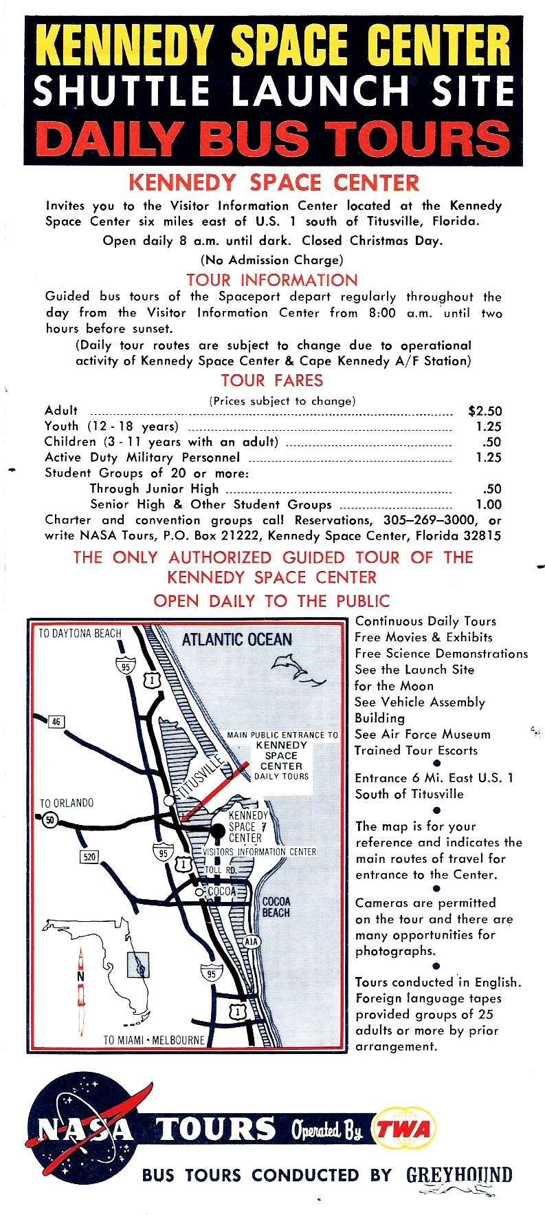 Plaquette info sur KENNEDY SPACE CENTER des années 80 Image410