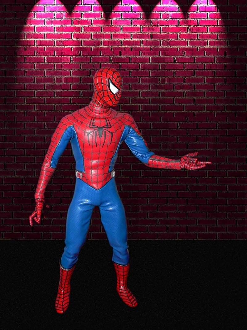 MEDICOM: SPIDERMAN + HOT TOYS DIORAMA BASE Spider10