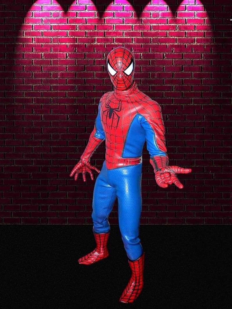 MEDICOM: SPIDERMAN + HOT TOYS DIORAMA BASE Spider11
