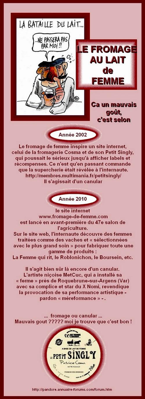LE FROMAGE AU LAIT DE FEMME - CANULAR DE BON OU MAUVAIS GOUT ? Faire_10