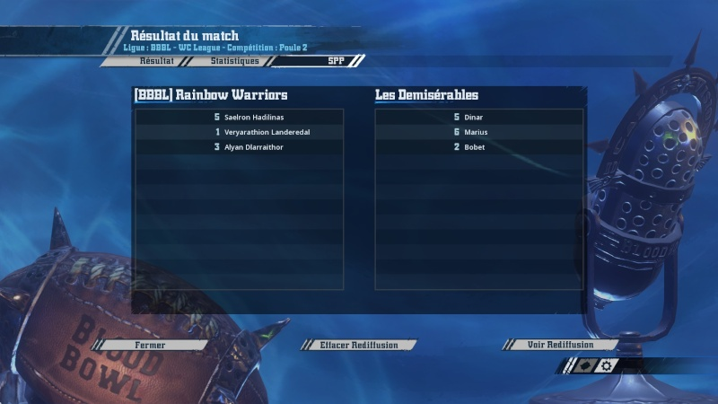 [WC j5 p2] Les démisérables (ash) 2-1 (Momie) Rainbow Warriors 20160318
