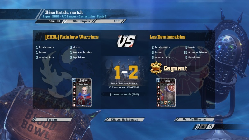 [WC j5 p2] Les démisérables (ash) 2-1 (Momie) Rainbow Warriors 20160319