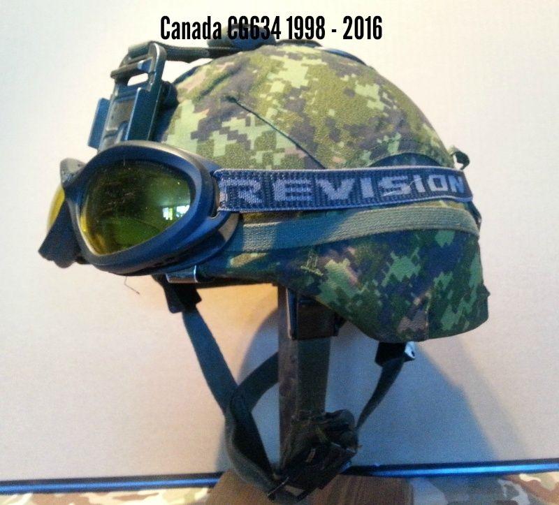 Présentation du casque Canadien de 1914 a nos jours.  Sans-t10