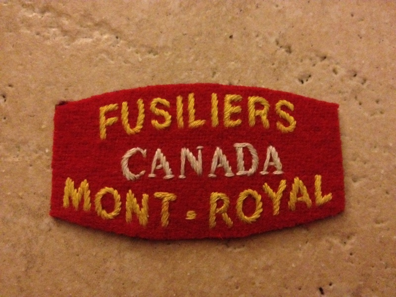Fusiliers Mont-Royal shoulder titles Img_0210