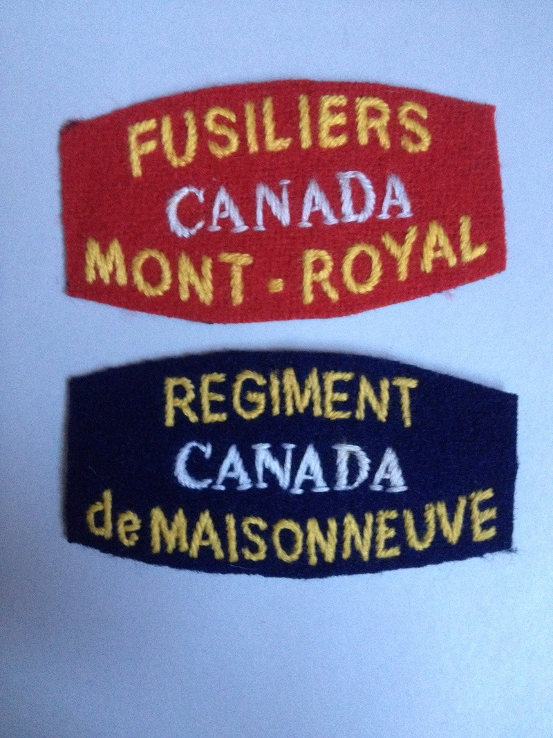 Fusiliers Mont-Royal shoulder titles Img_0211