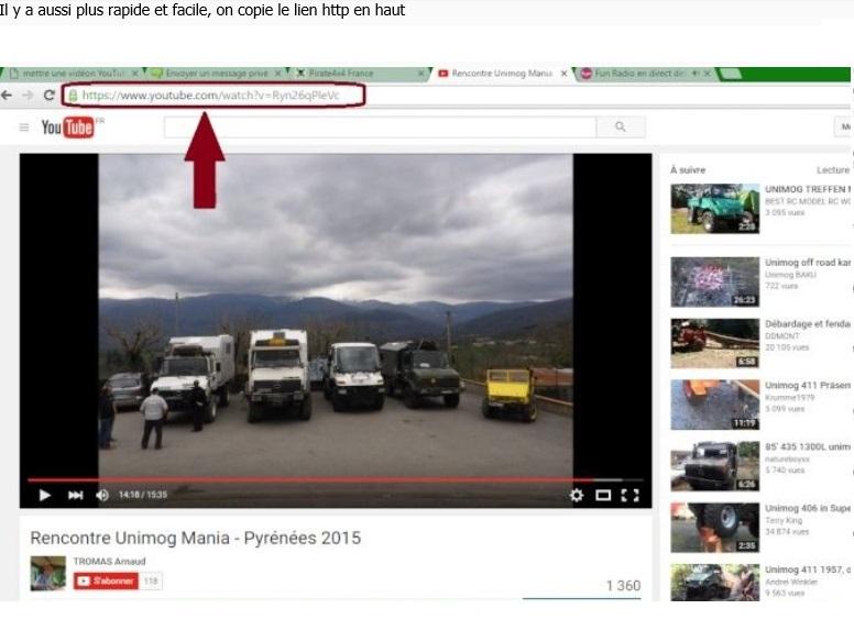 mettre une vidéo YouTube dans votre message Ariege10