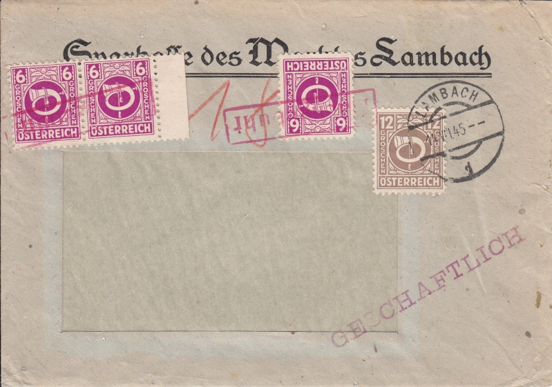 Posthornzeichnung  -  ANK 697-713  -  Belege - Seite 2 Img24