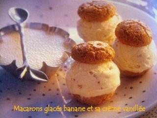 Macarons glacés banane et sa crème vanillée Img_1334