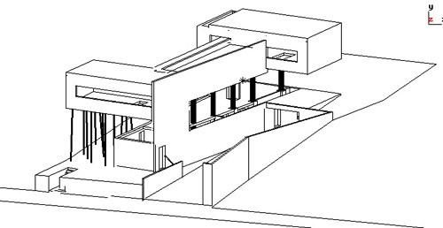 Villa d'All Ava  OMA Rem Koolhaas  Saint-Cloud, France, 1984-91 Axono10