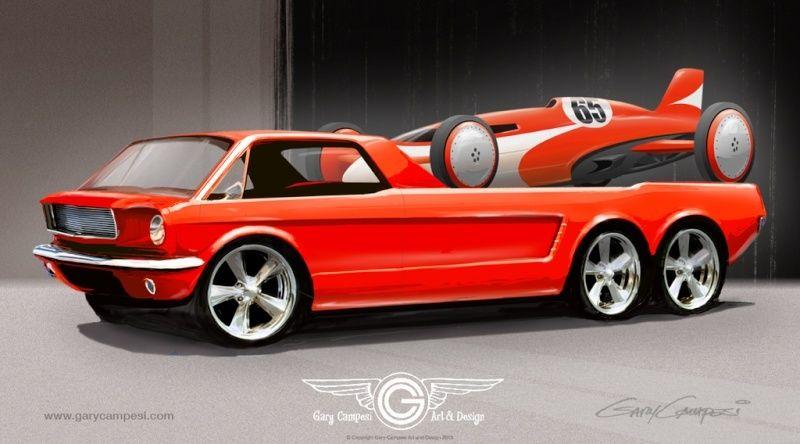 Ford Mustang Transporter par Paxton Mustan10