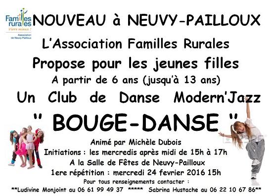 NEUVY-PAILLOUX - Création d'un club de Danse Modern'Jazz 00221