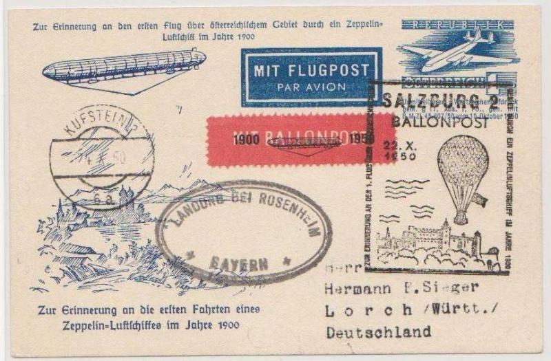 Die Privatganzsachen der österreichischen Ballonpost Forum108