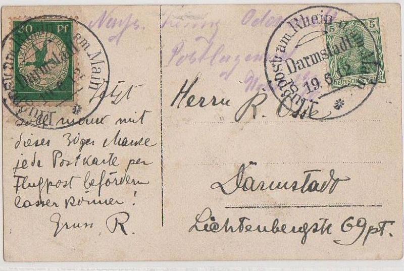 Flugpost 1912 am Rhein und Main Forum_38
