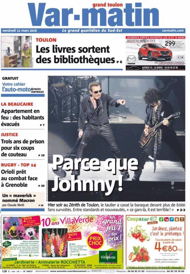 """Tournée 2015/2016 de johnny """"RESTER VIVANT """" Part 2..LA TOURNEE - Page 2 12791110"""