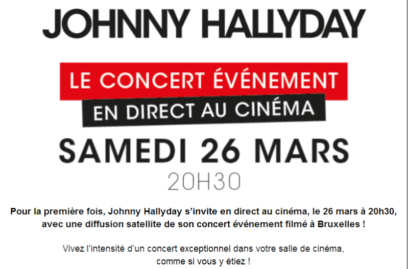 Gagner l'affiche dedicacée ultra collector de johnny du concert retransmis au cinema Captur22
