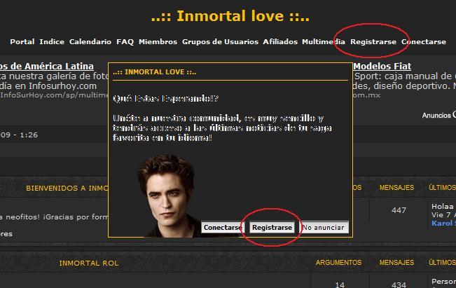 ¿Cómo formar parte de la comunidad Inmortal Love? 111