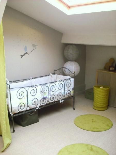 chambre enfant vert et gris Medium10