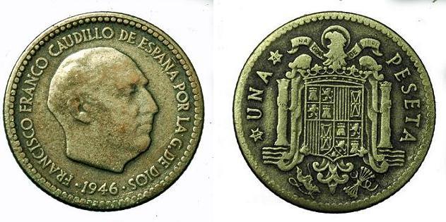 1 Peseta 1946 (*48). Estado Español. Escasa. 135