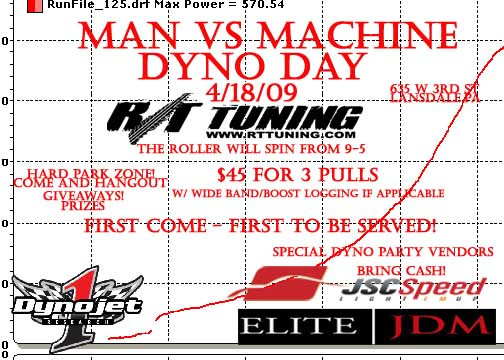 Sat. 4/18 - Dyno Day at R/T Tuning in Lansdale, PA Dynoda10