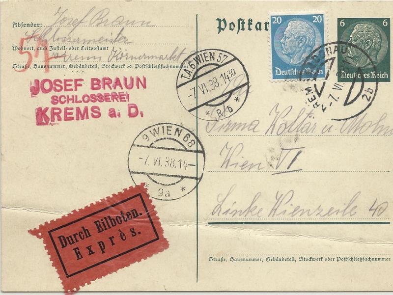 Österreich im III. Reich (Ostmark) Belege - Seite 7 Expres10