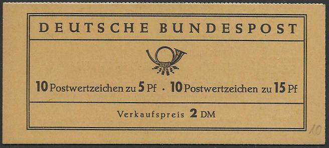 Deutschland Markenheftchen Mh10a10