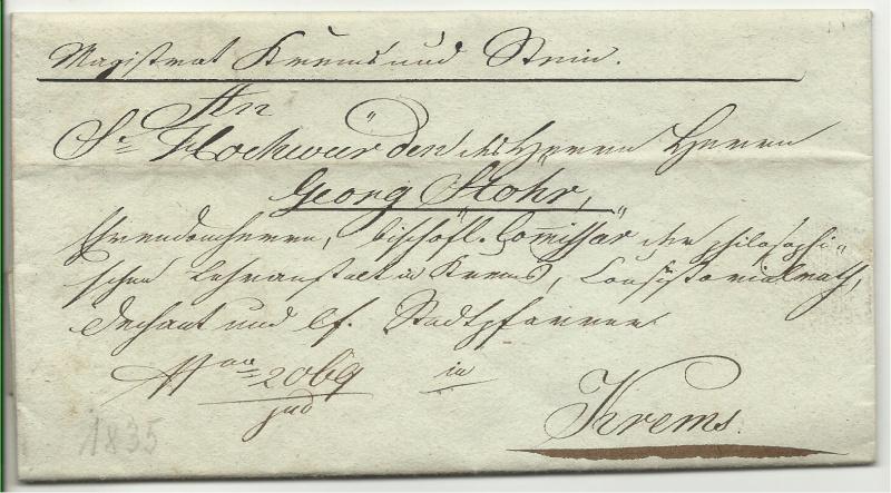 Vorphilatelie Österreich  -   Briefe aus der Vormarkenzeit - Seite 2 Vorphi10
