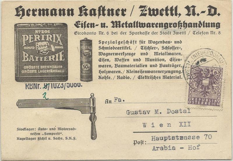 Werbeumschläge und -karten aus Österreich - Seite 4 Wappen10