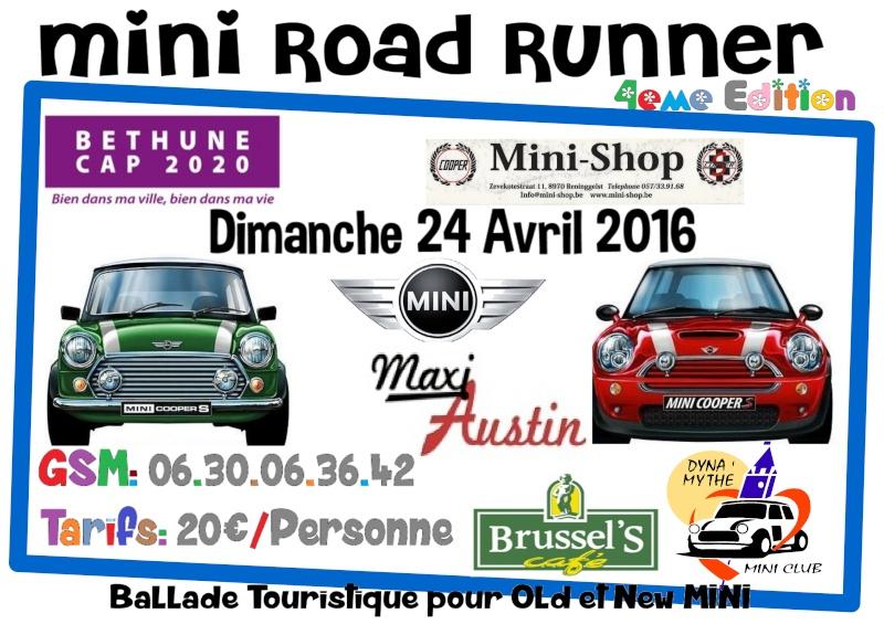 [MINI ROAD RUNNER] 4eme Edition - Avril 2016 - Béthune 62 Affich10